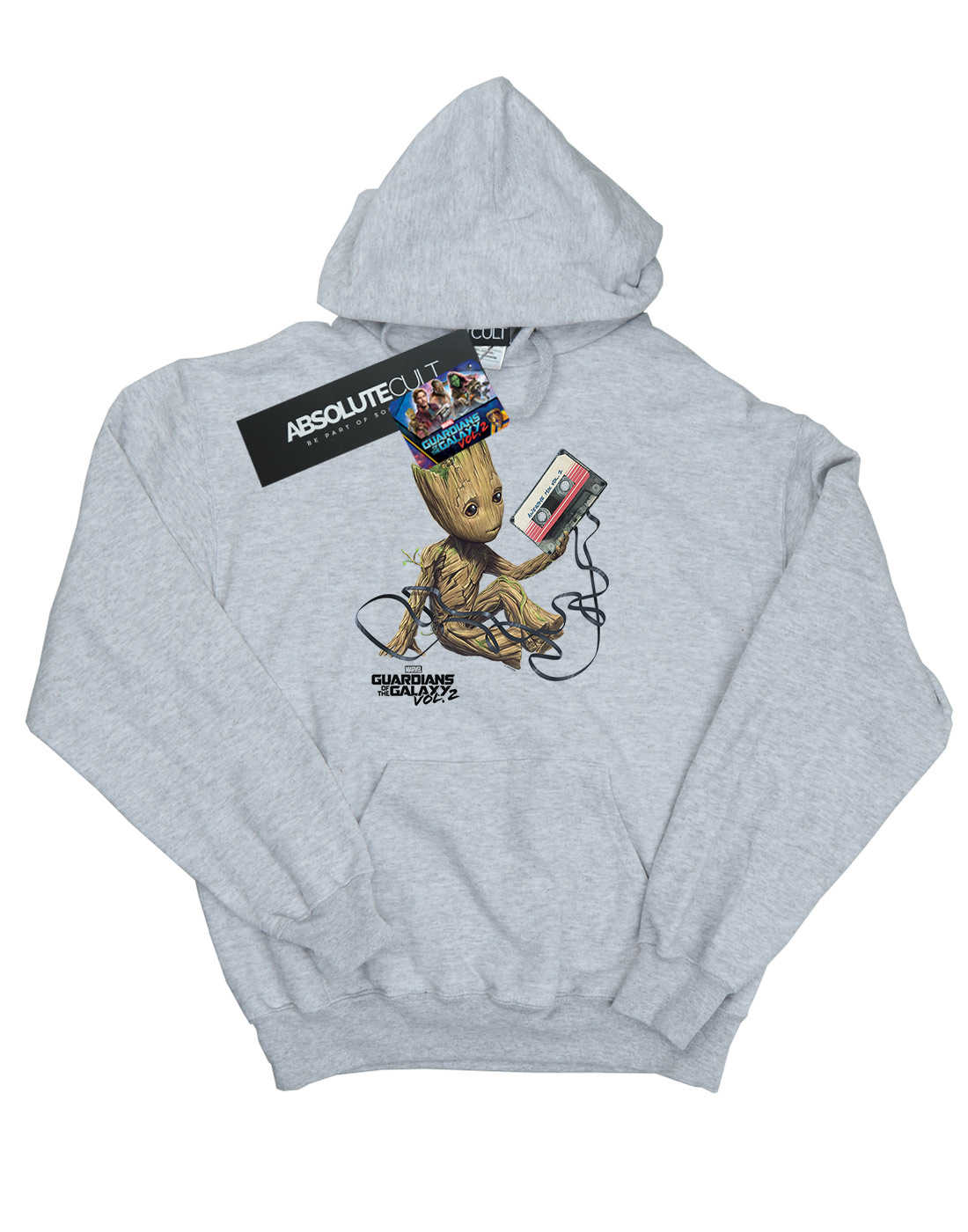 Marvel Girls Guardians Of The Galaxy Groot Tape Hoodie