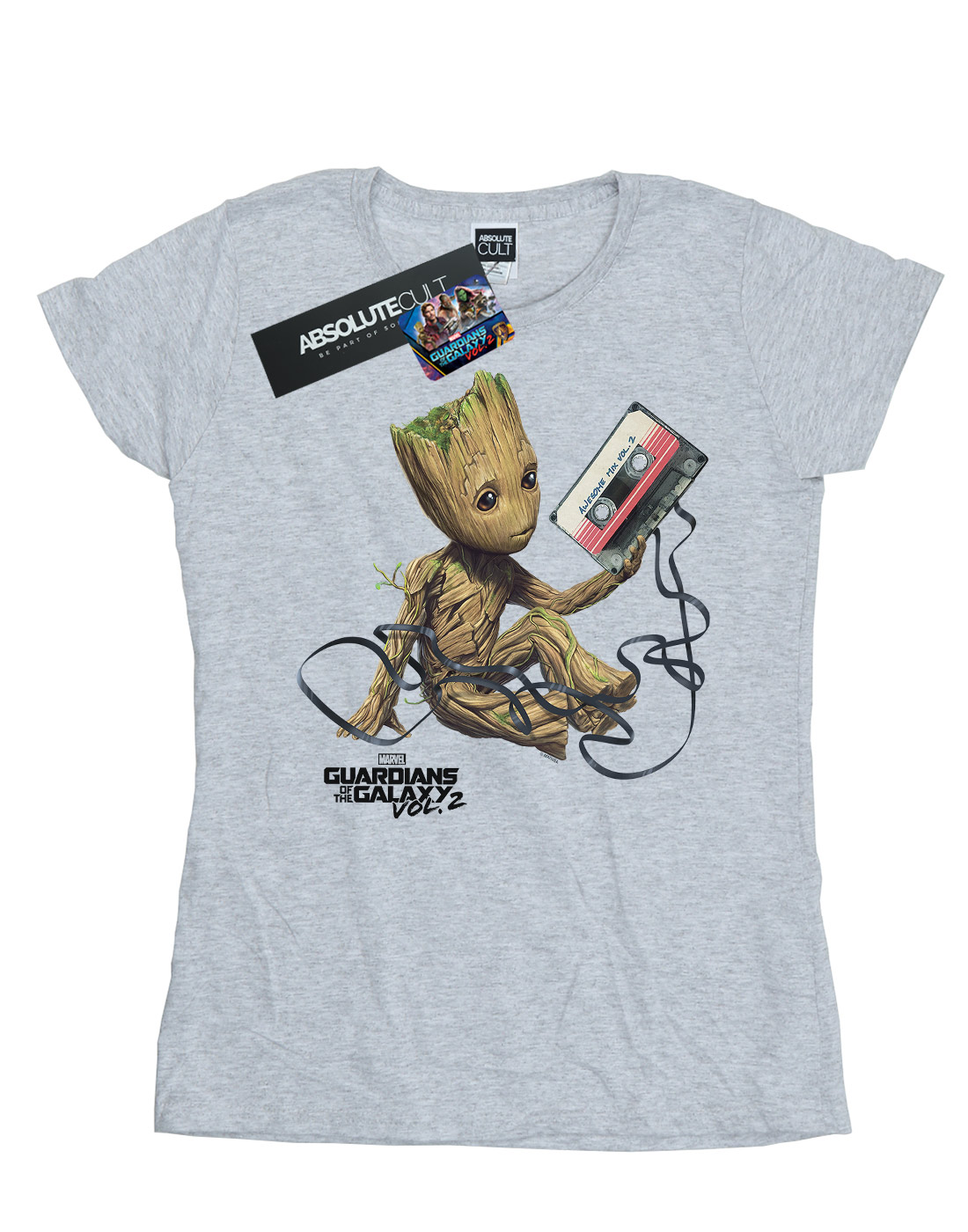 Marvel-Women-039-s-Guardians-of-the-Galaxy-Groot-Tape-T-Shirt thumbnail 8