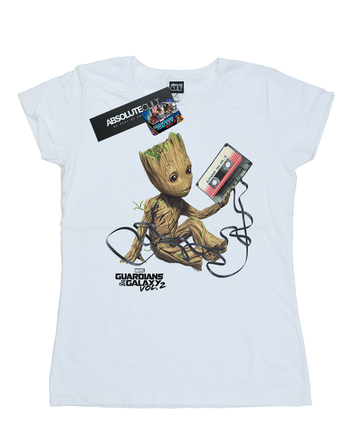 Marvel-Women-039-s-Guardians-of-the-Galaxy-Groot-Tape-T-Shirt thumbnail 11