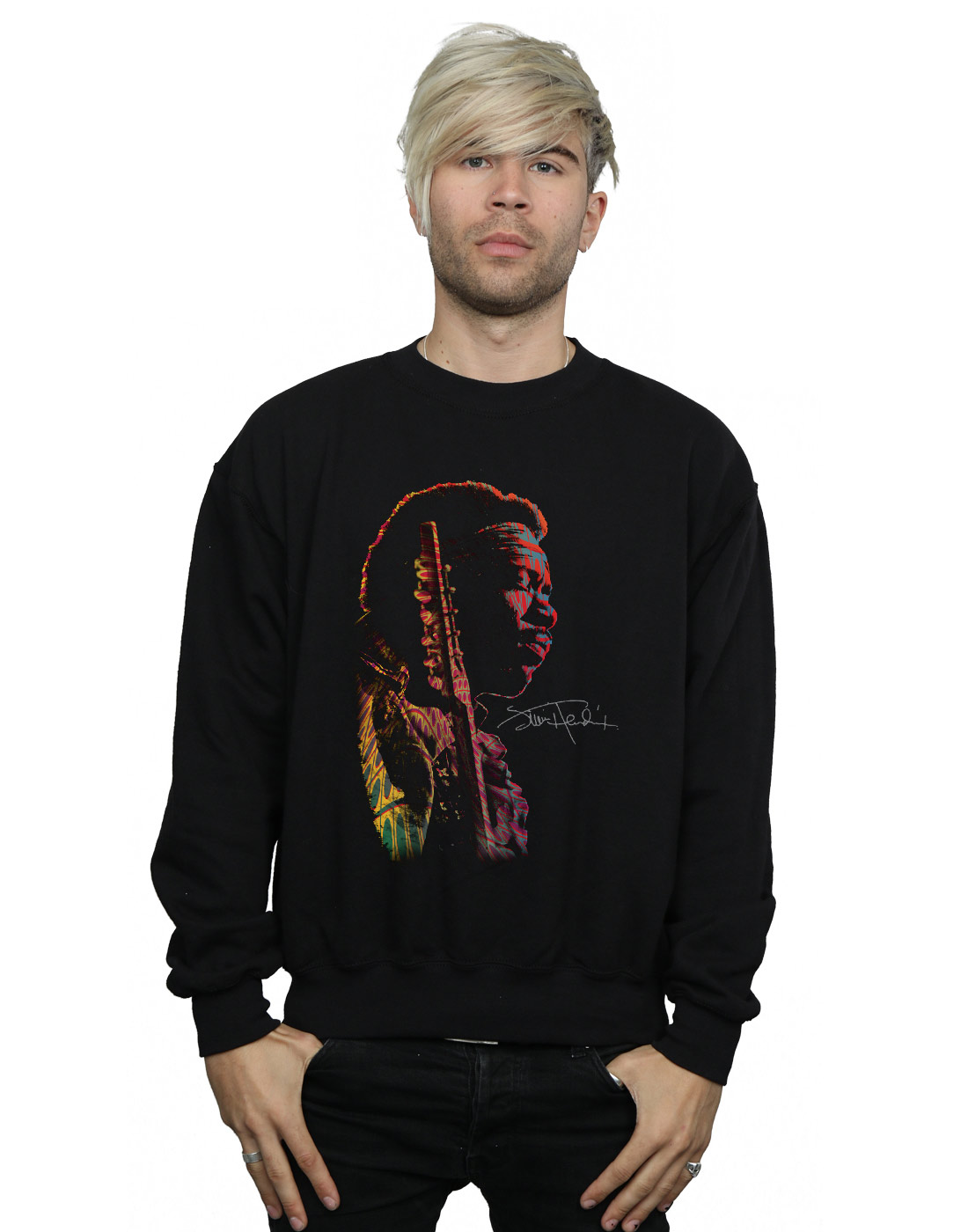 Jimi Hendrix Herren Shadow Profile Sweatshirt