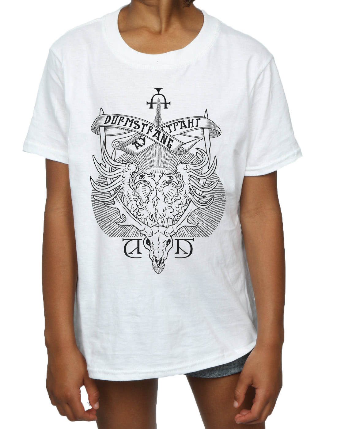 Harry Potter Girls Durmstrang Institute Crest T Shirt Ebay #harry potter #durmstrang #durmstrang institute #hp head canon #wayyy overdue #but consider it a thankyou to all my new followers from the last week. ebay