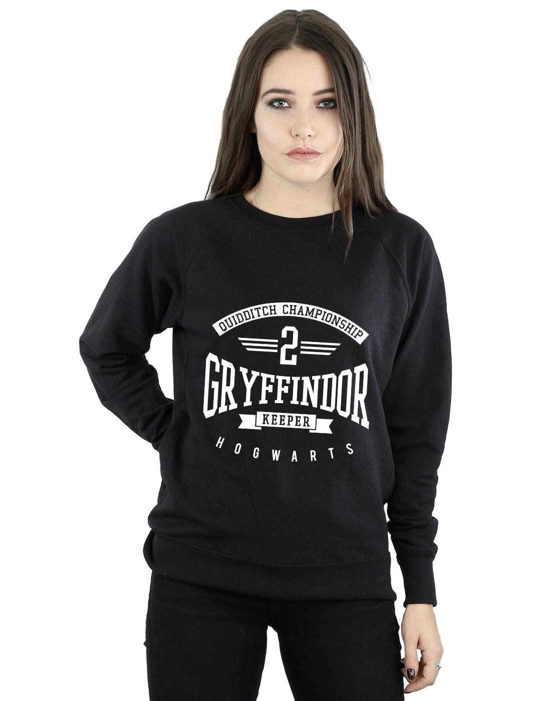 Harry Potter Slytherin Quidditch Manica lunga donna bianco//grigio XXL