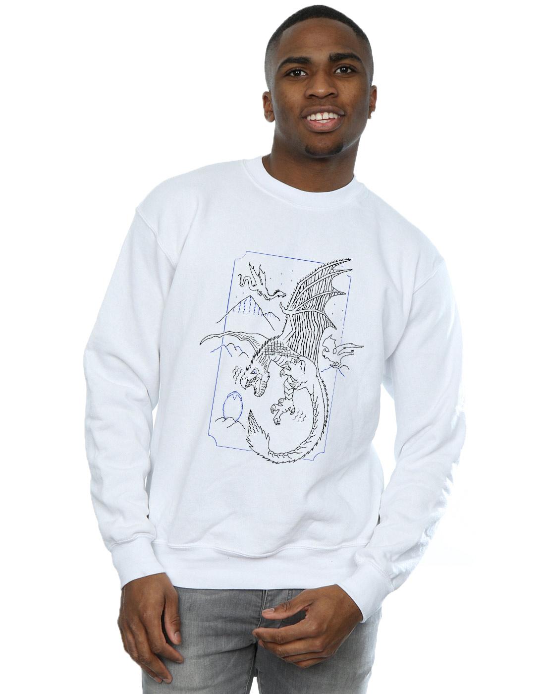 1cf7cf5eb Harry Potter Hombre Dragon Line Art Camisa De Entrenamiento X-large ...