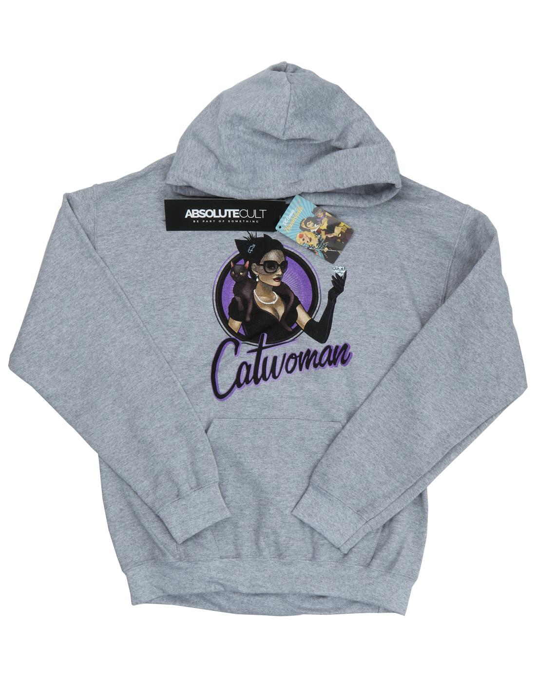 DC DC DC Comics Uomo Bombshells Catwoman Felpa con cappuccio a88bd9