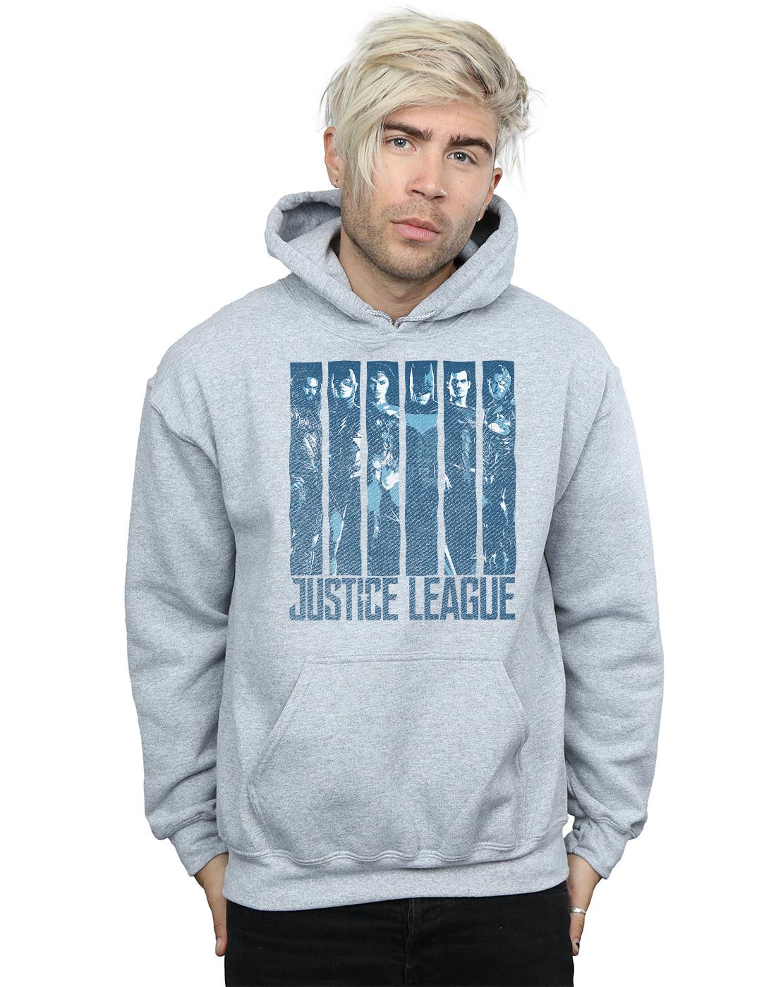 DC Comics Uomo Justice League Movie Movie Movie Double Indigo Felpa Con Cappuccio 2d3c6a