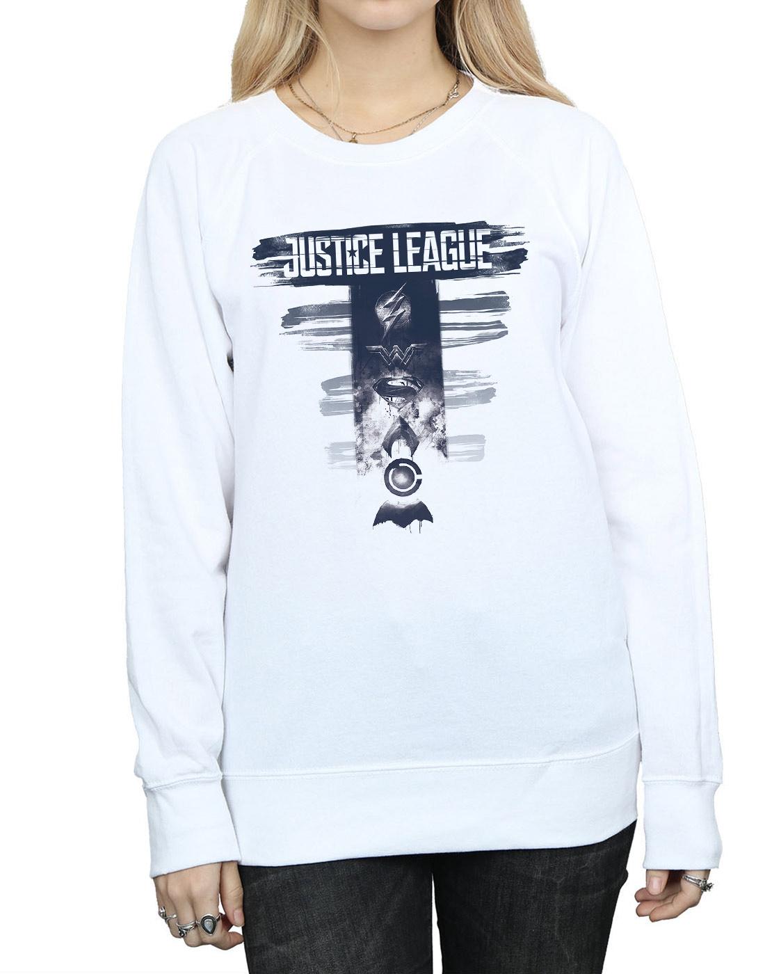 DC Comics Damen Justice League Movie Logo Badges Sweatshirt | | | München Online Shop  | Neue Produkte im Jahr 2019  | Einfach zu bedienen  | Good Design  | Moderater Preis  56b91c