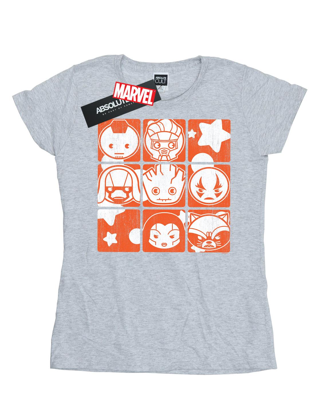 Marvel-Women-039-s-Kawaii-Guardians-of-the-Galaxy-Retro-T-Shirt thumbnail 8