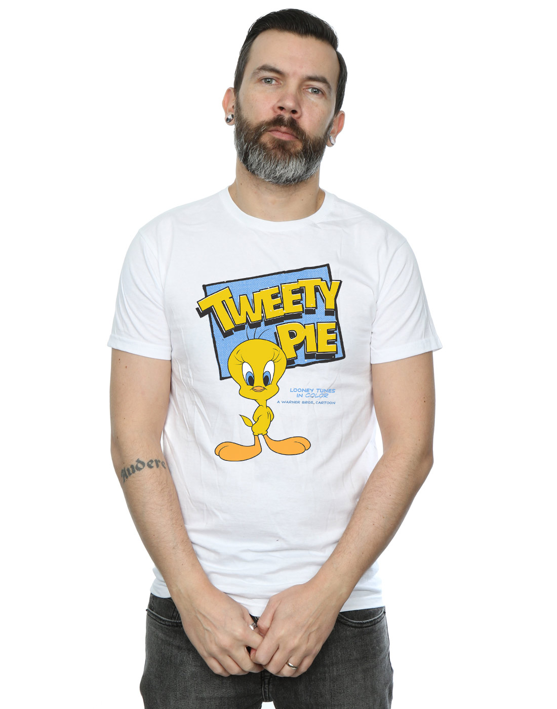 Looney-Tunes-Men-039-s-Classic-Tweety-Pie-T-Shirt