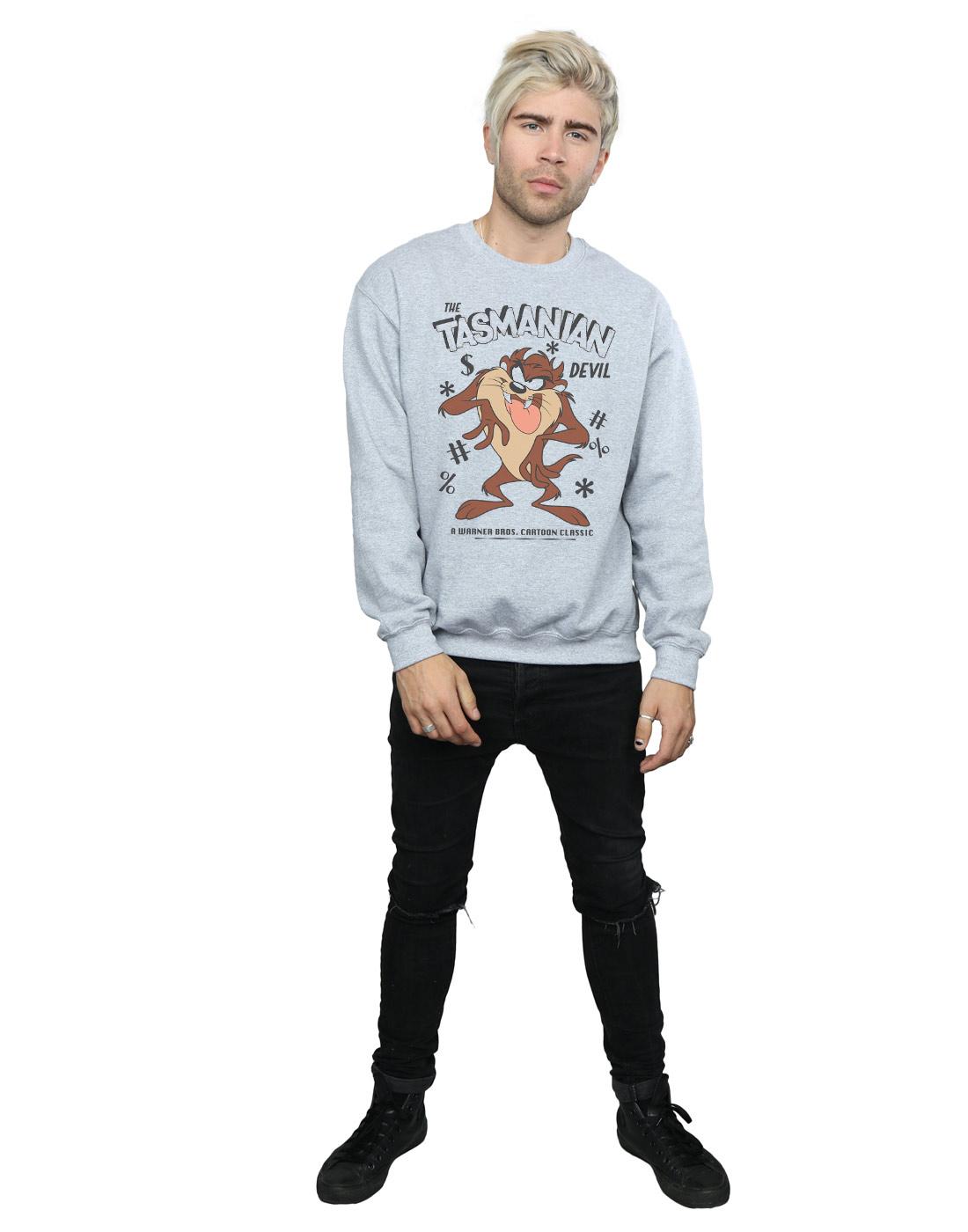 Looney Tunes Herren Vintage Tasmanian Devil Devil Devil Sweatshirt  | Exquisite (in) Verarbeitung  98a1c5