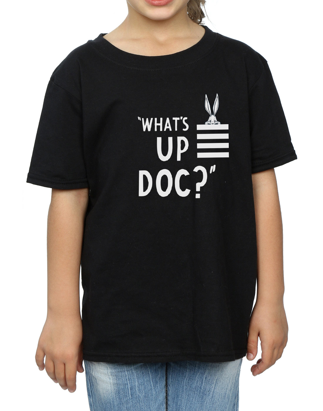 Looney-Tunes-Girls-Bugs-Bunny-What-039-s-Up-Doc-Stripes-T-Shirt