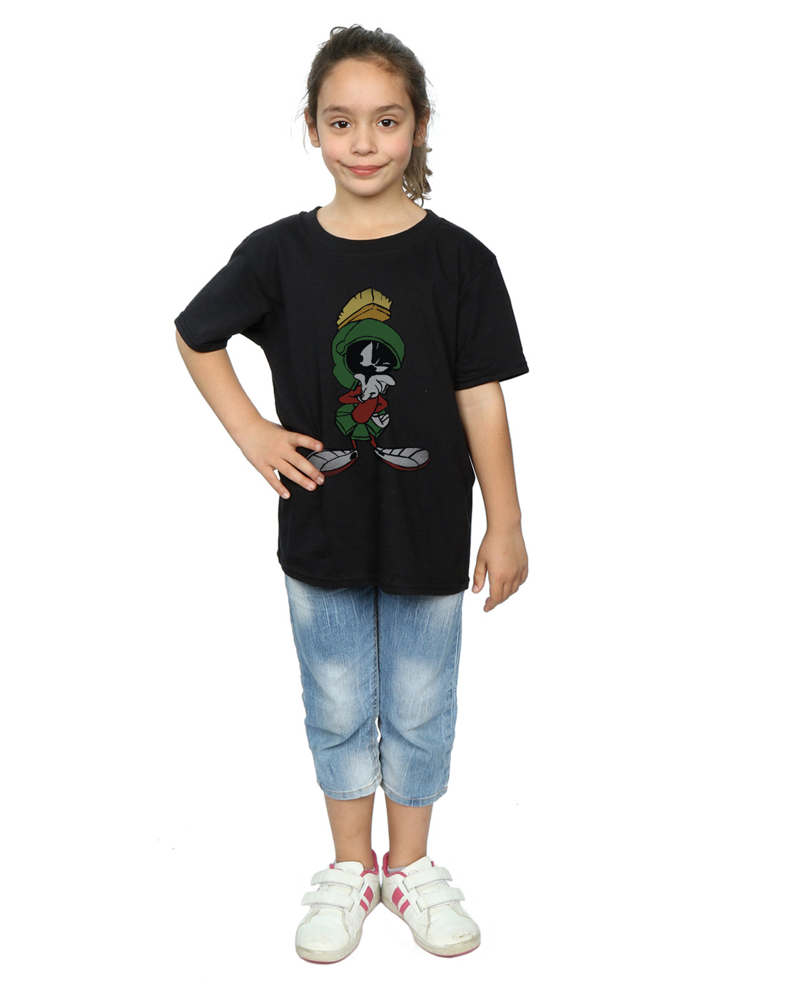 Looney-Tunes-Fille-Marvin-The-Martian-Pose-T-Shirt