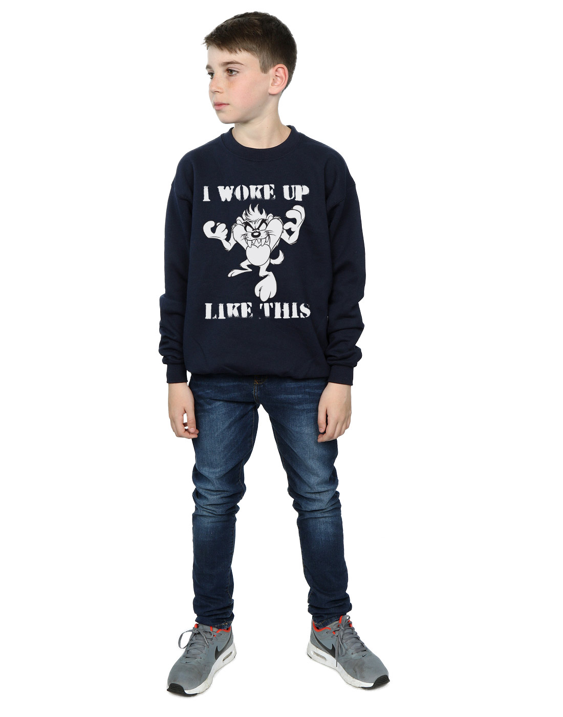 Looney-Tunes-Jungen-Taz-I-Woke-Up-Like-This-Sweatshirt