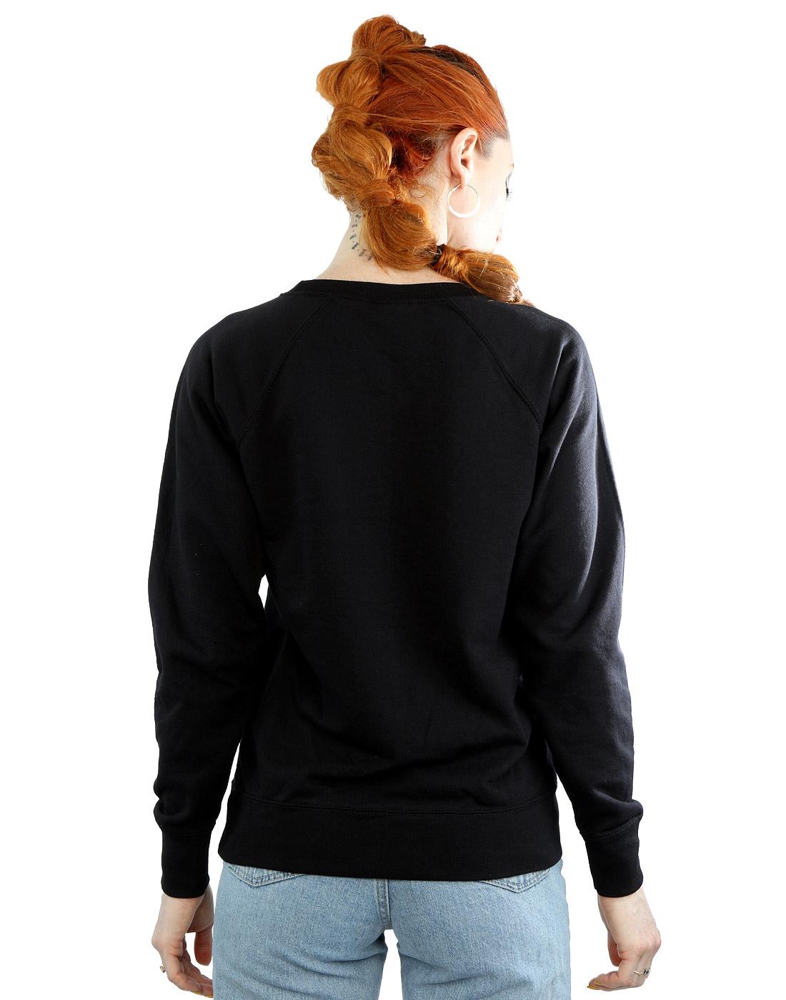 Looney-Tunes-mujer-Tasmanian-Devil-Face-Faux-Pocket-Camisa-De-Entrenamiento