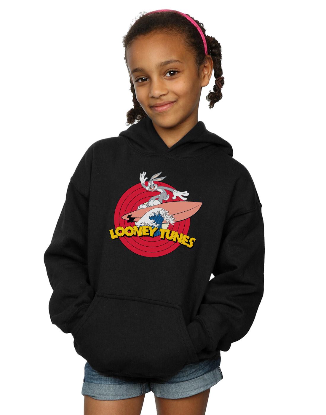Looney Tunes Girls Lola Bunny Face Faux Pocket Sweatshirt