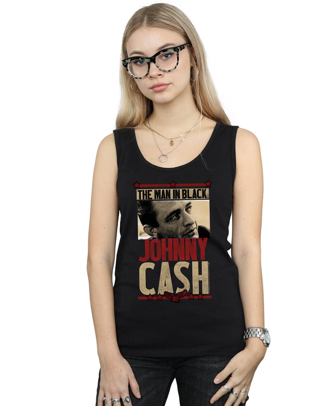 931d6f3fae47d1 Johnny Cash Women s Man In Black Photo Tank Top
