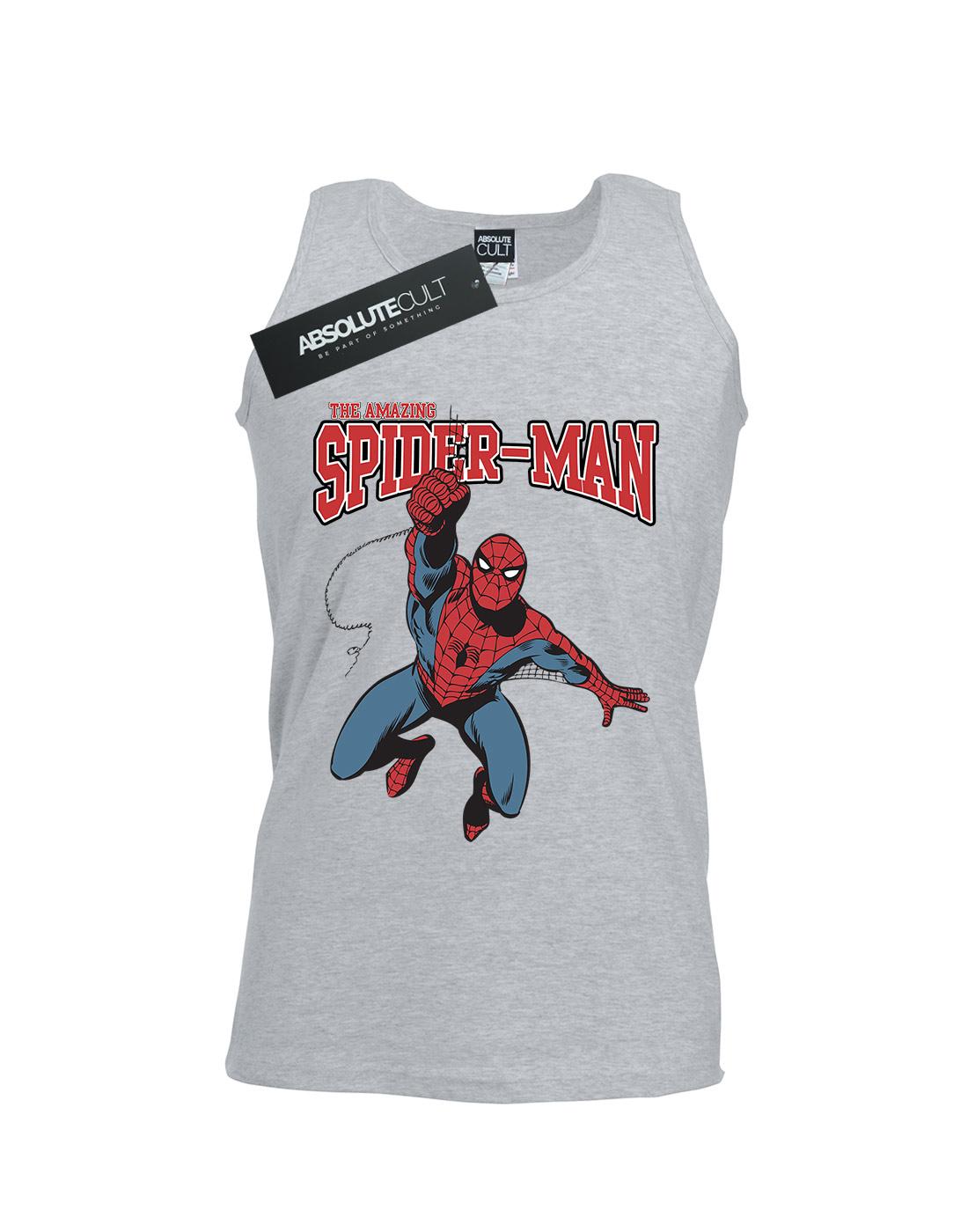 Marvel-Men-039-s-Spider-Man-Leap-Tank-Top thumbnail 5