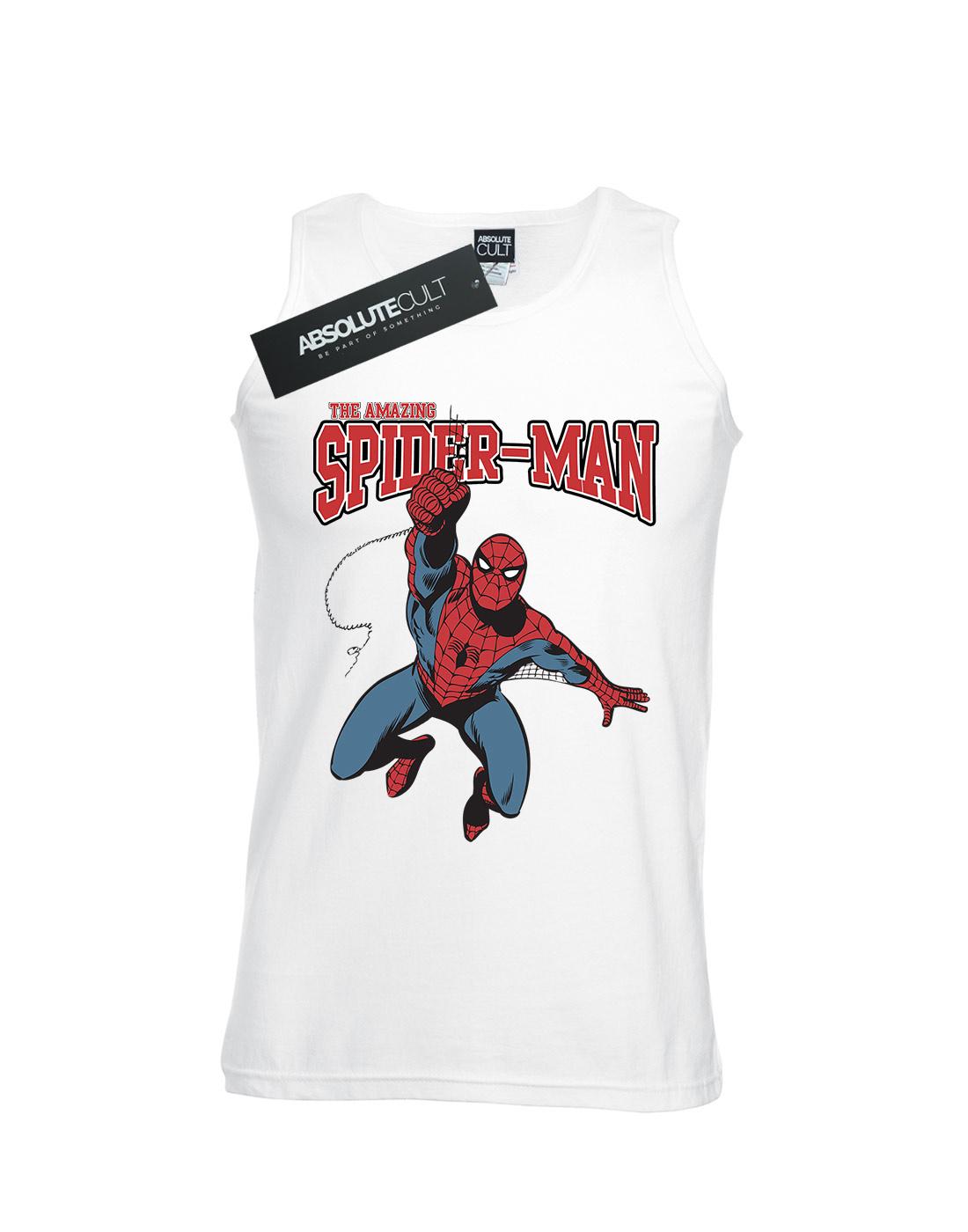 Marvel-Men-039-s-Spider-Man-Leap-Tank-Top thumbnail 8