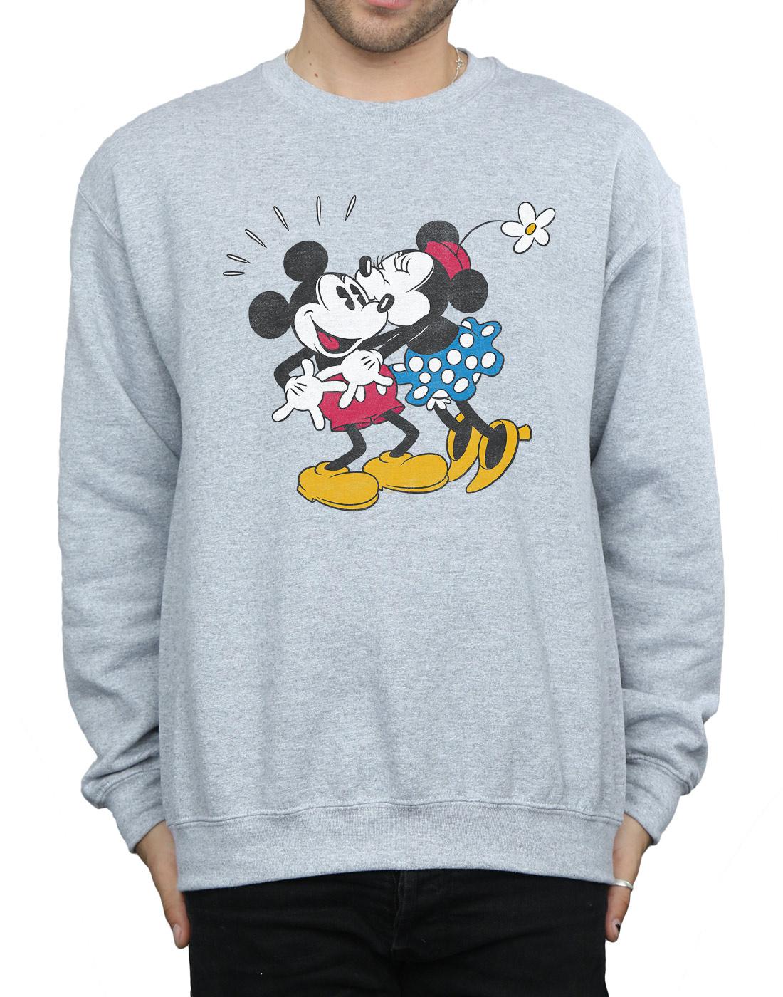Felpa Uomo Kiss Minnie Mouse Mickey Disney And B7Zzwf