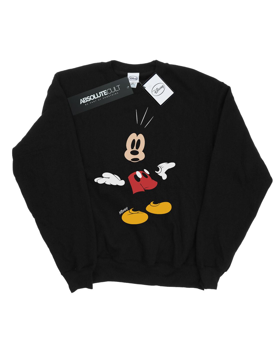 Disney Surprised Mouse Mickey Uomo Felpa pR1rpH