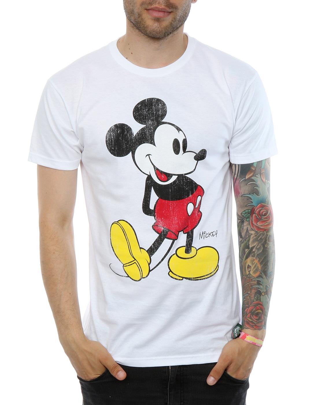 b8e8e6885 Disney Men's Mickey Mouse Classic Kick T-Shirt | eBay