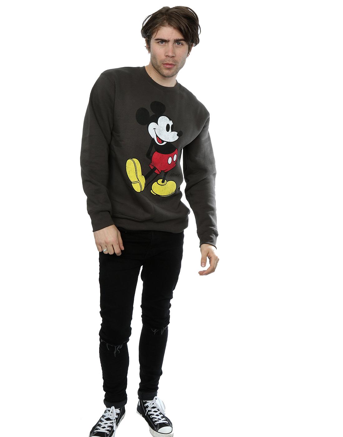 Disney-Homme-Mickey-Mouse-Classic-Kick-Sweat-Shirt