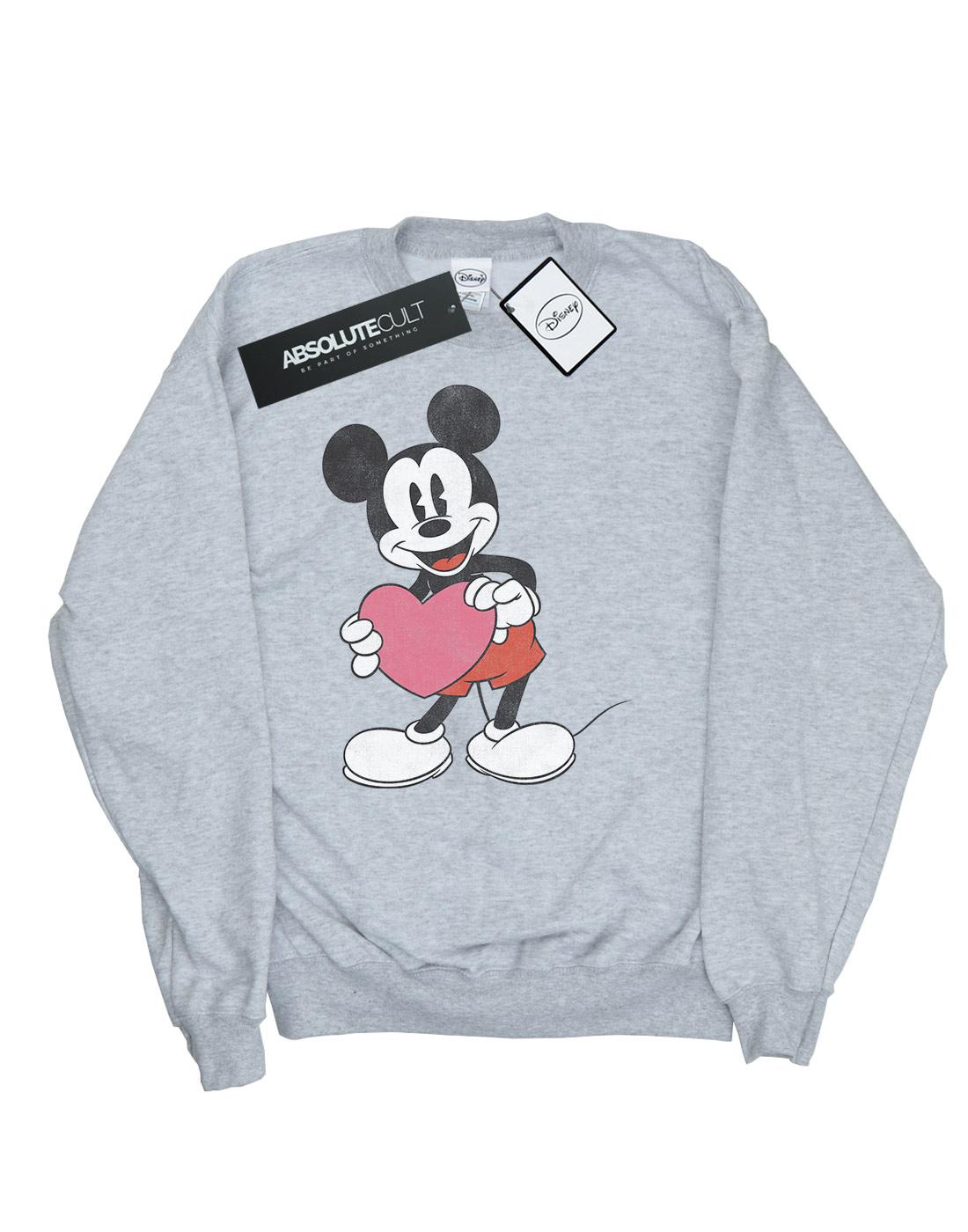 Disney Mickey Heart Valentine Mouse Felpa Uomo 0rwqf0