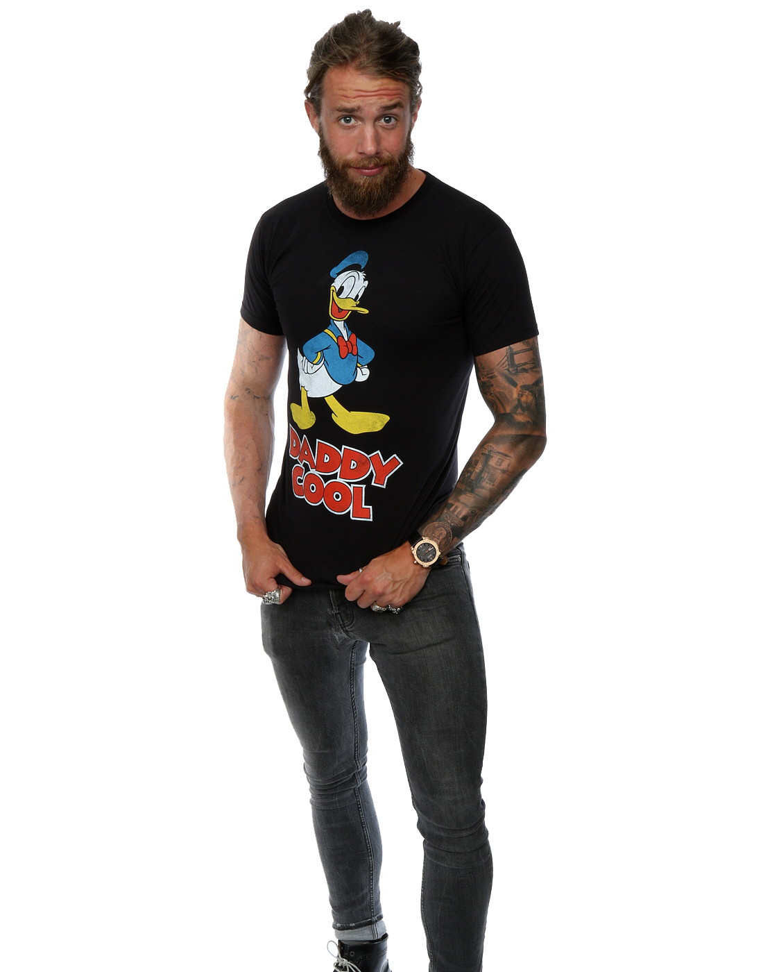 Disney-Homme-Donald-Duck-Daddy-Cool-T-Shirt