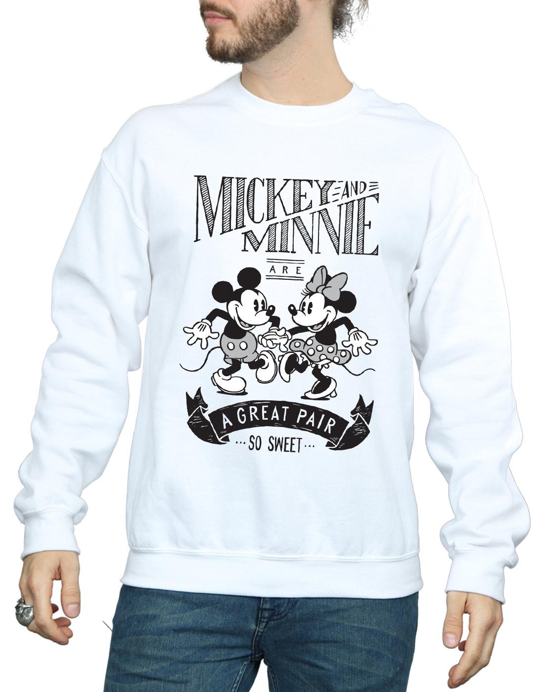 Uomo Mickey Great Felpa Pair Mouse Minnie And Disney avHPqw