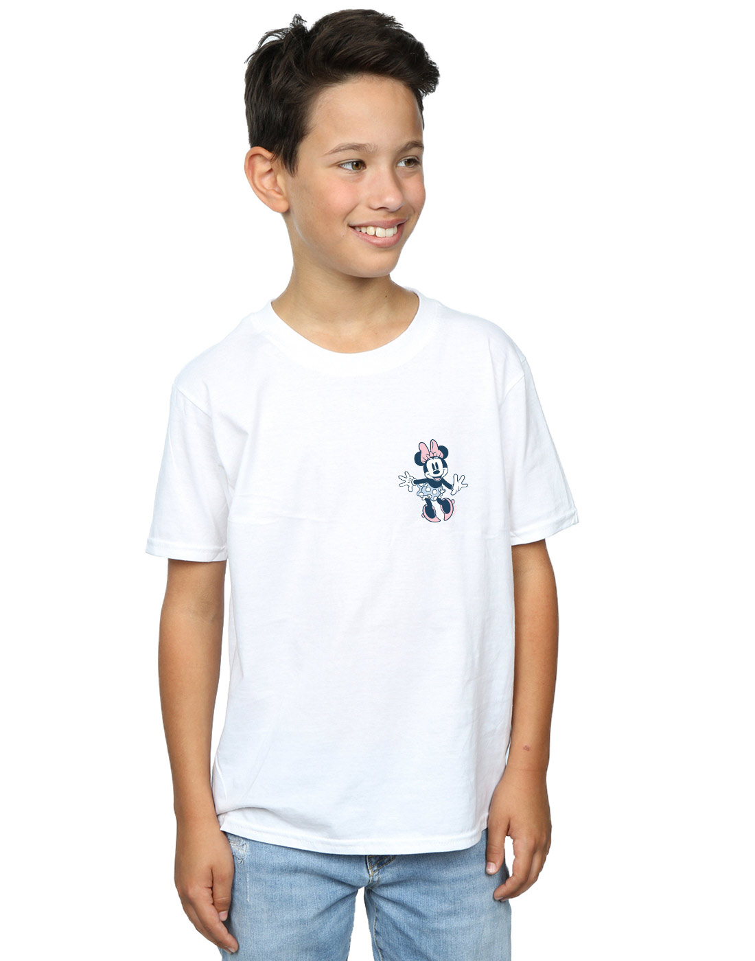 Disney-Ninos-Minnie-Mouse-Dancing-Chest-Camiseta