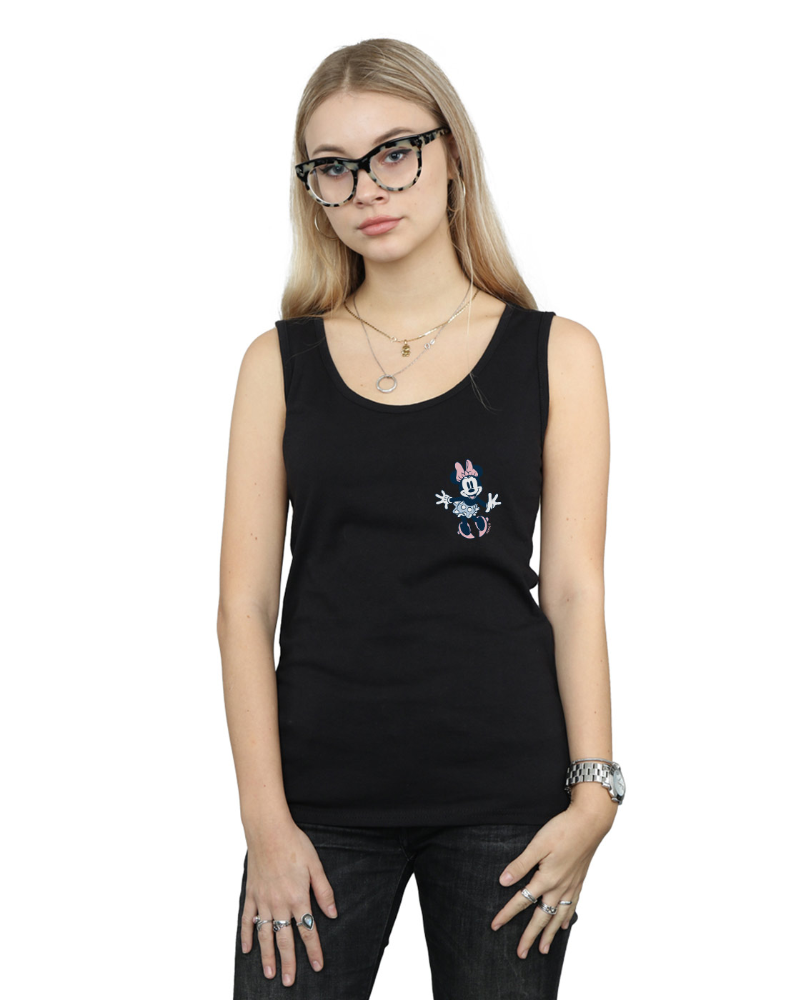 Disney-Mujer-Minnie-Mouse-Dancing-Chest-Camiseta-Sin-Mangas