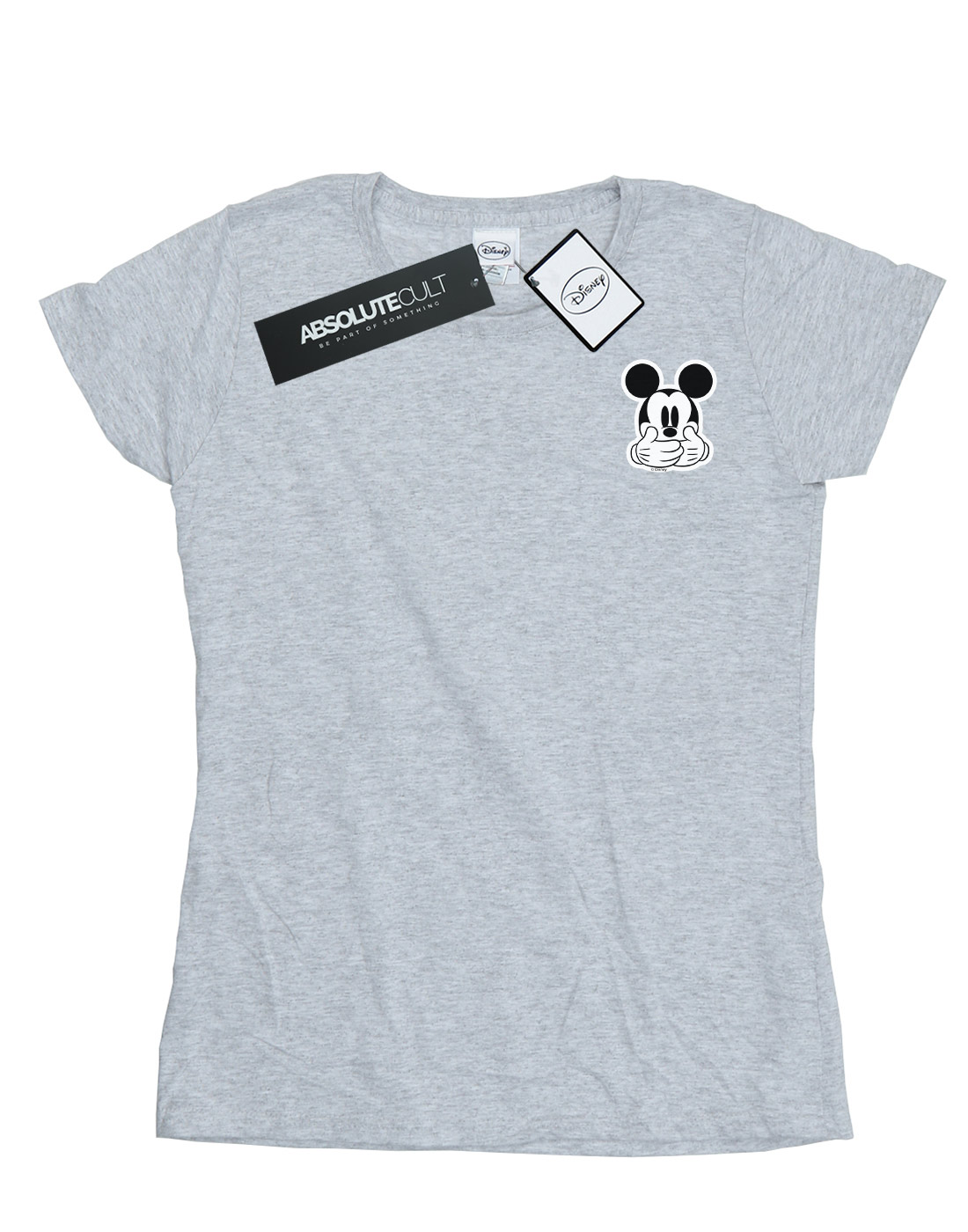 Disney-Women-039-s-Mickey-Mouse-Don-t-Speak-Breast-Print-T-Shirt thumbnail 8