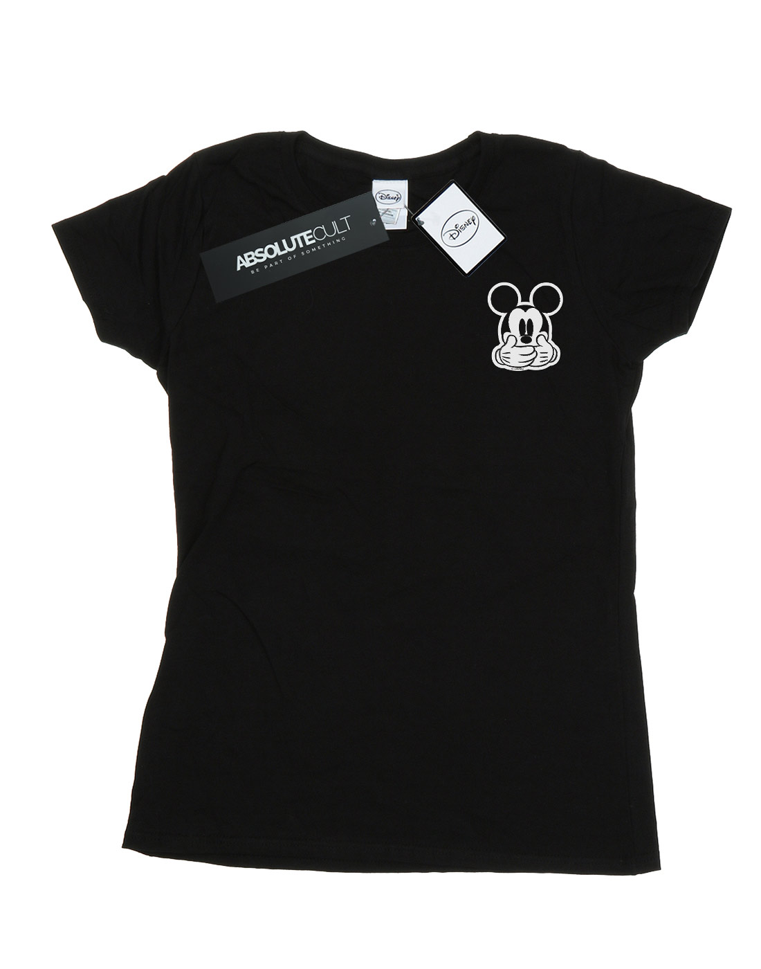 Disney-Women-039-s-Mickey-Mouse-Don-t-Speak-Breast-Print-T-Shirt thumbnail 5