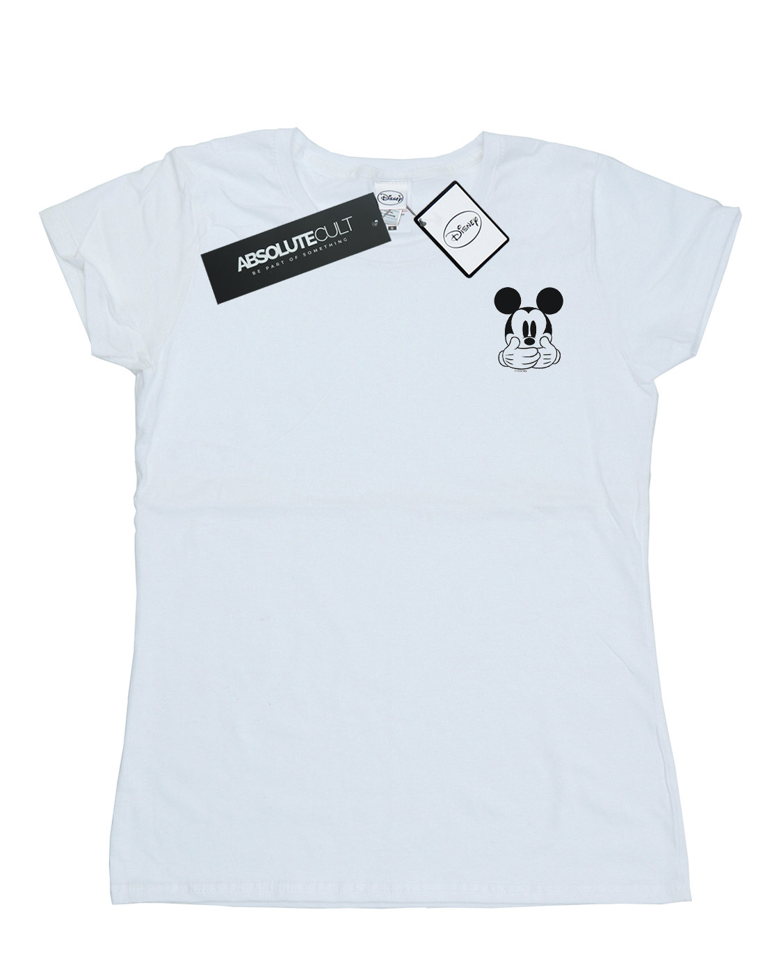 Disney-Women-039-s-Mickey-Mouse-Don-t-Speak-Breast-Print-T-Shirt thumbnail 11