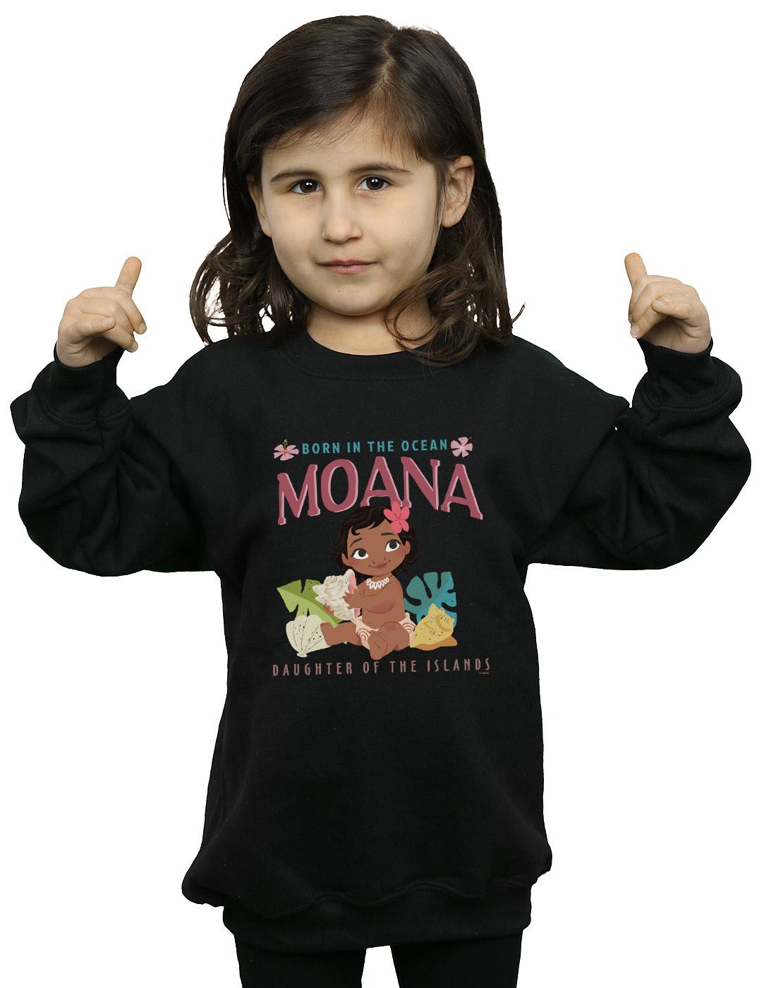 Disney Girls Moana Read The Sea Sweatshirt