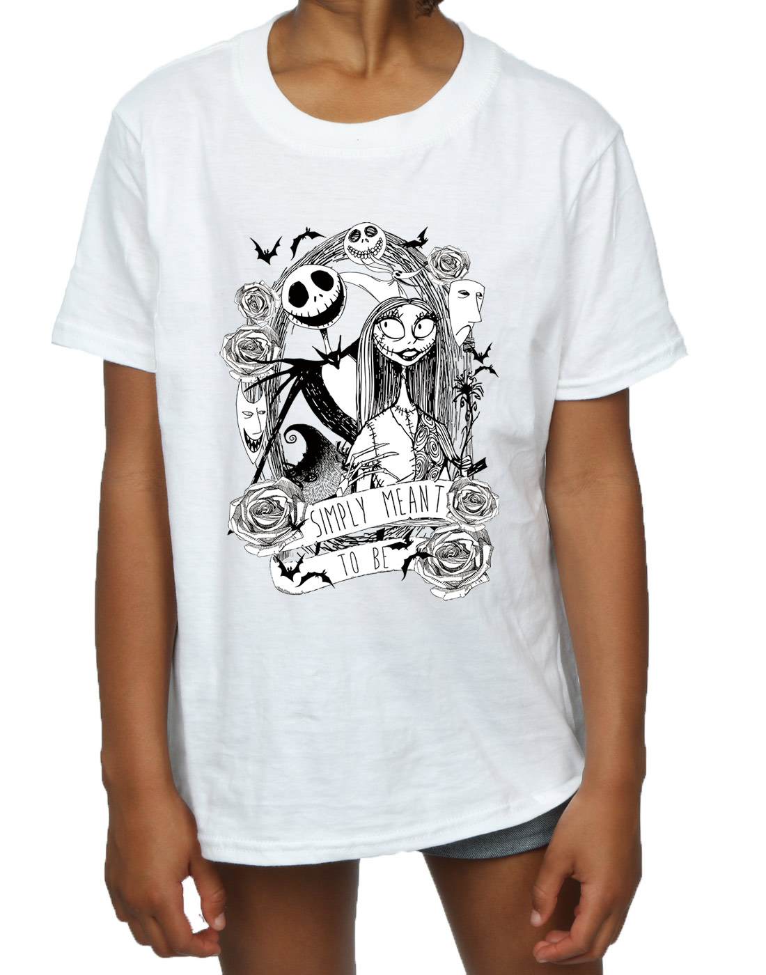 Disney Girls Nightmare Before Christmas Simply Meant To Be T-Shirt ...
