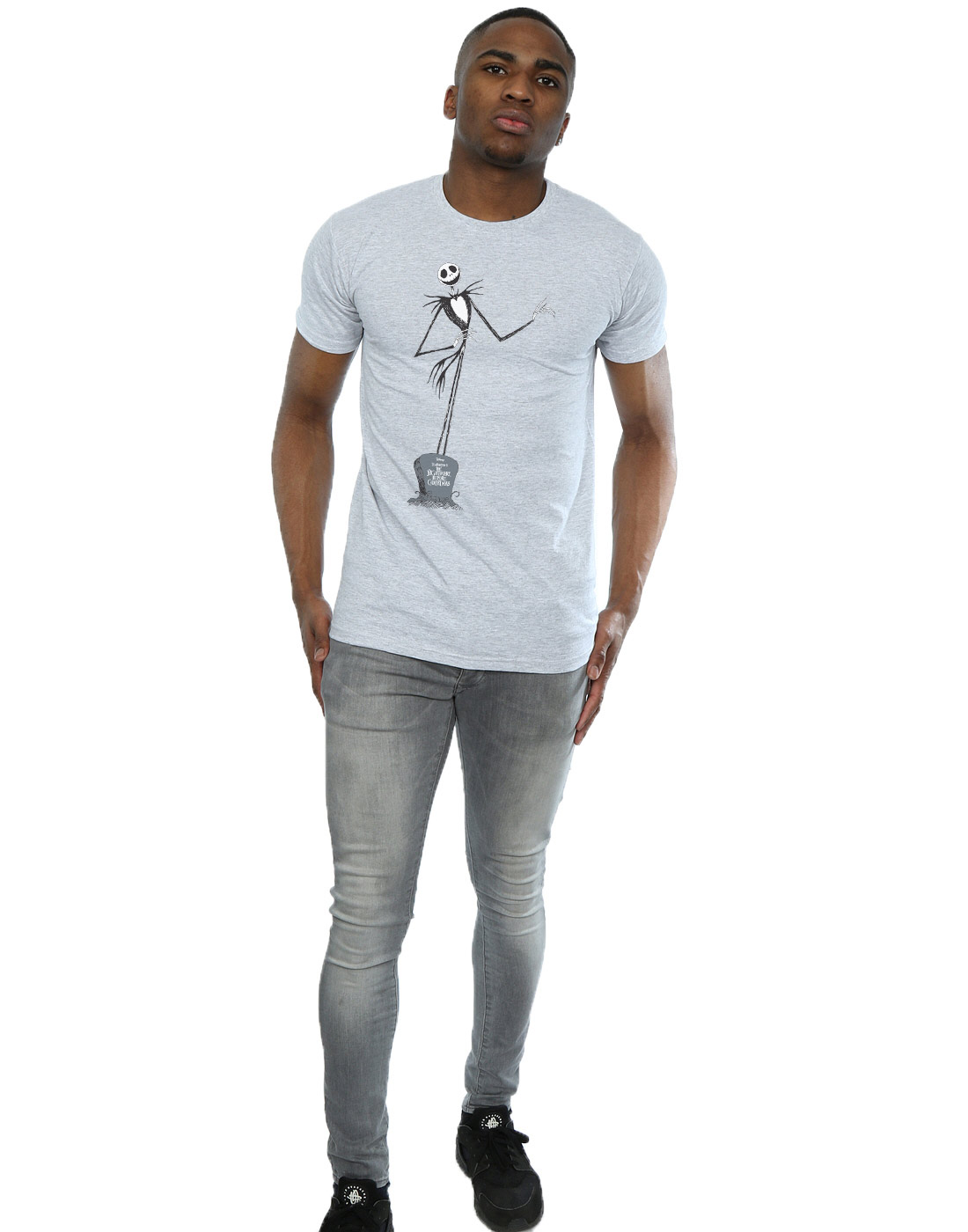 Disney-Homme-Nightmare-Before-Christmas-Jack-Pose-T-Shirt