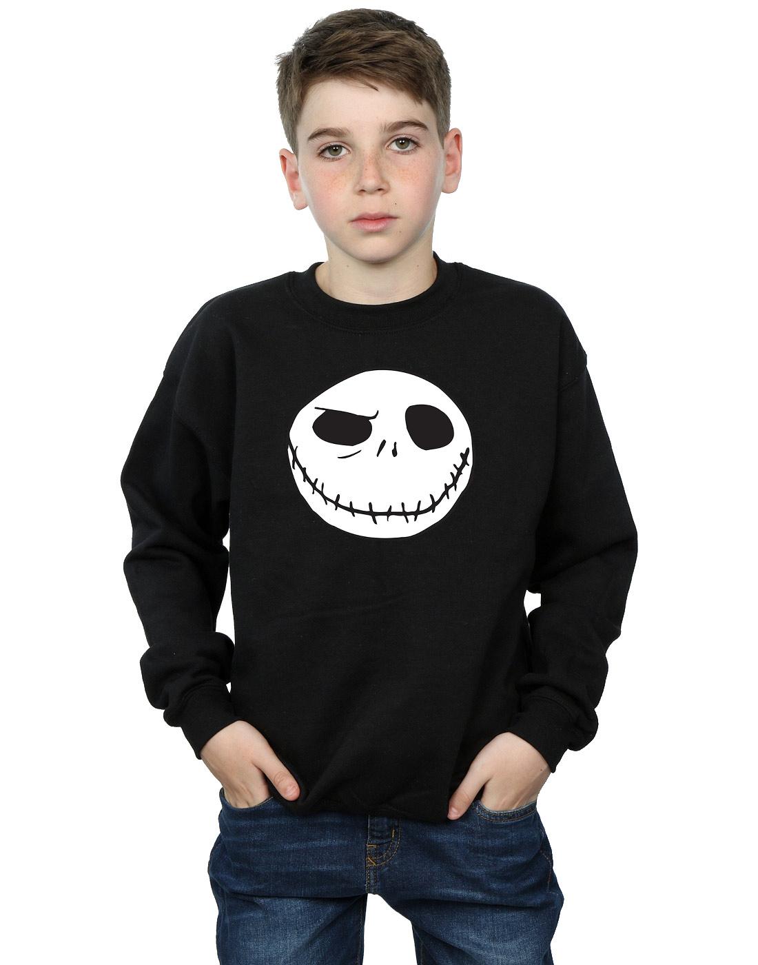 Disney Boys Nightmare Before Christmas Jack\'s Big Face Sweatshirt 5 ...