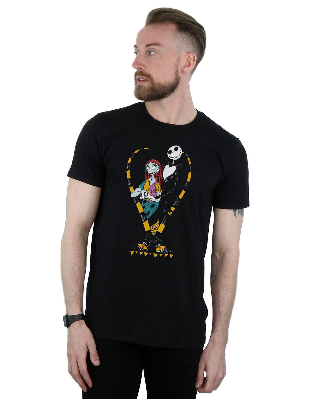 Disney Men\'s Nightmare Before Christmas Jack and Sally Love T-Shirt ...