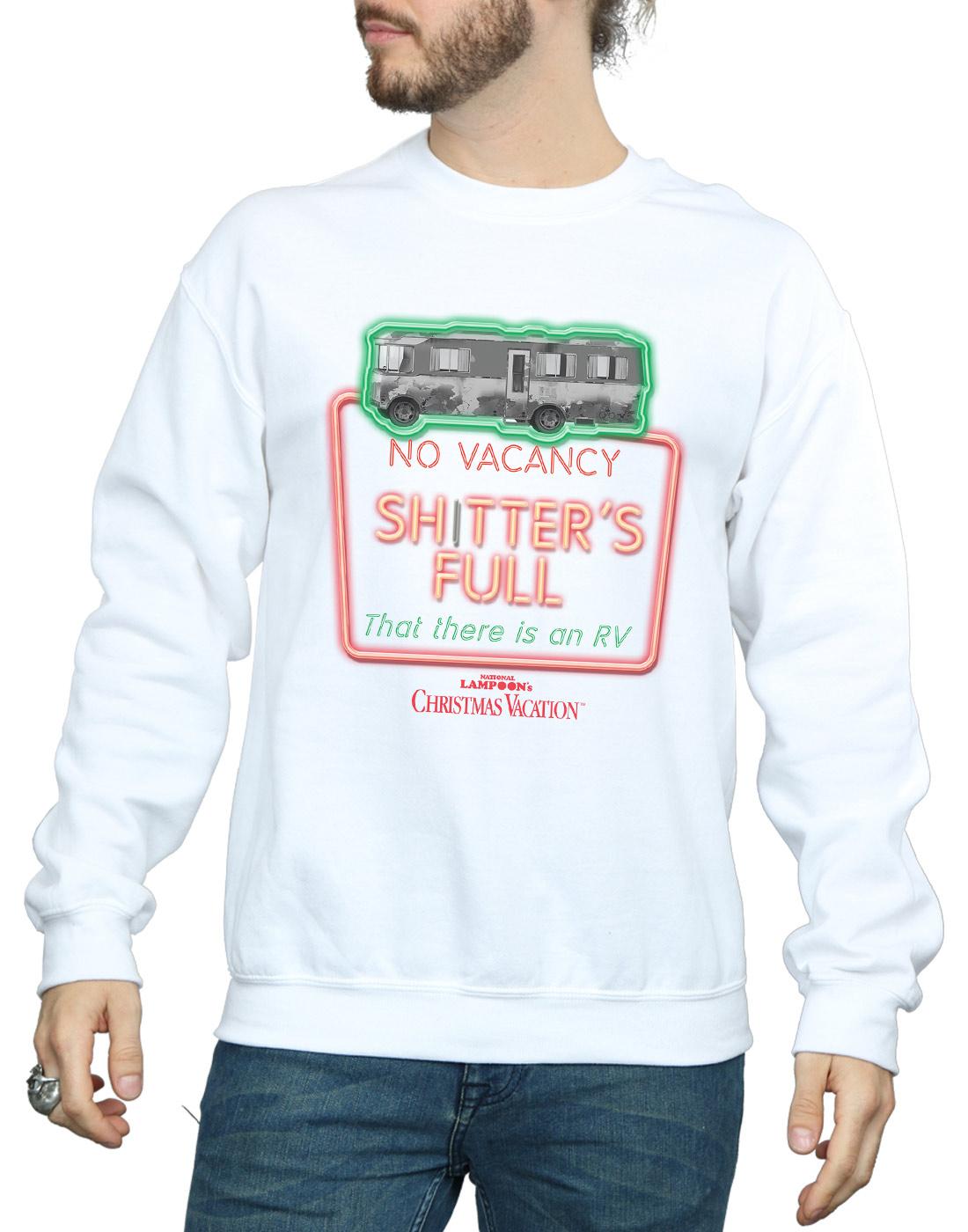 National Lampoon's Christmas Vacation Herren grauscale No Vacancy Sweatshirt Sweatshirt Sweatshirt | Shopping Online  98118b