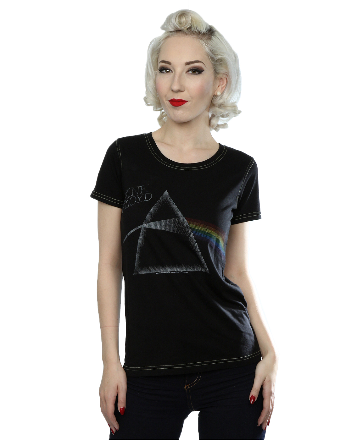 cab791f7 Aftershow Women's Pink Floyd Prism T-Shirt   eBay