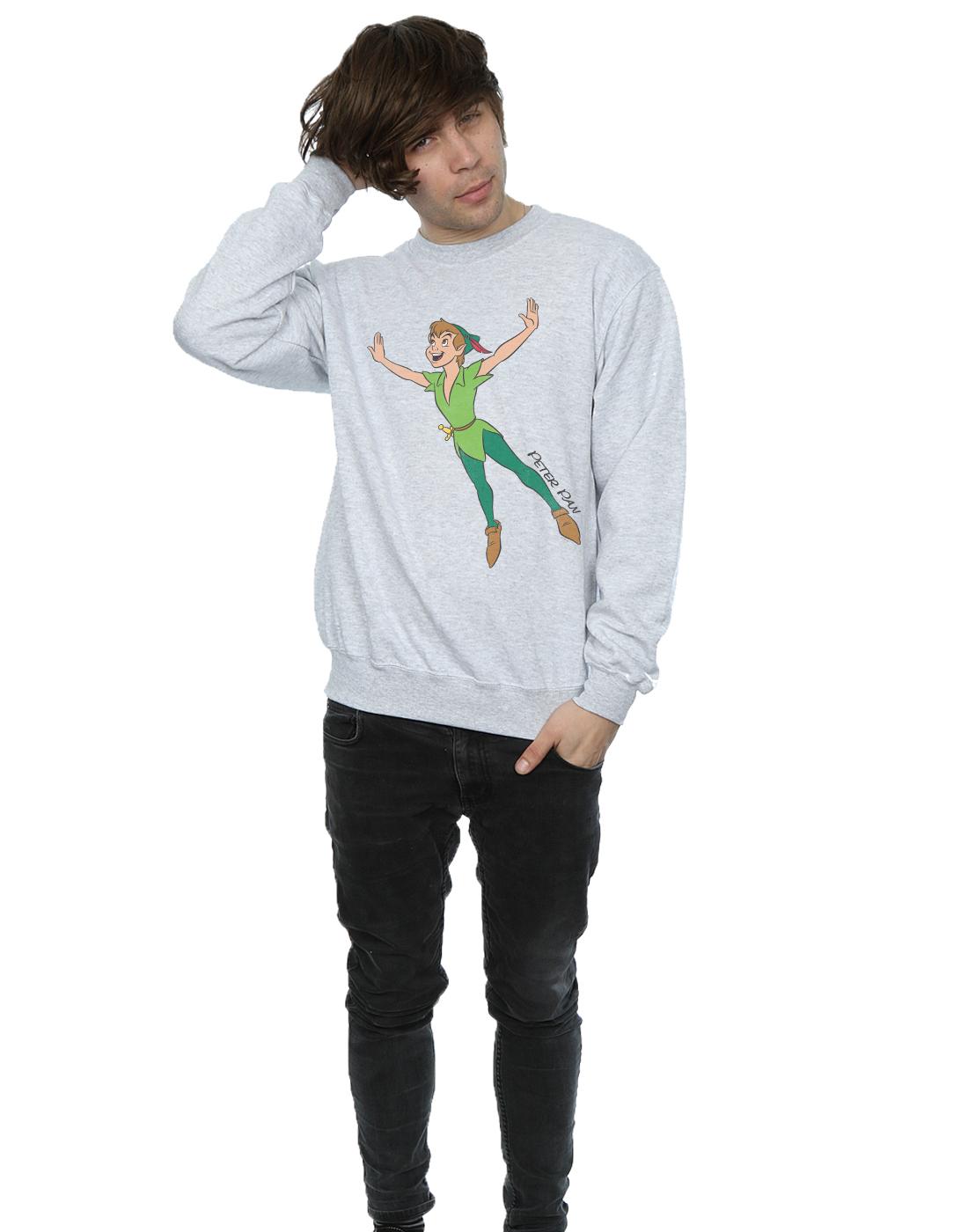 Disney-Homme-Classic-Flying-Peter-Pan-Sweat-Shirt