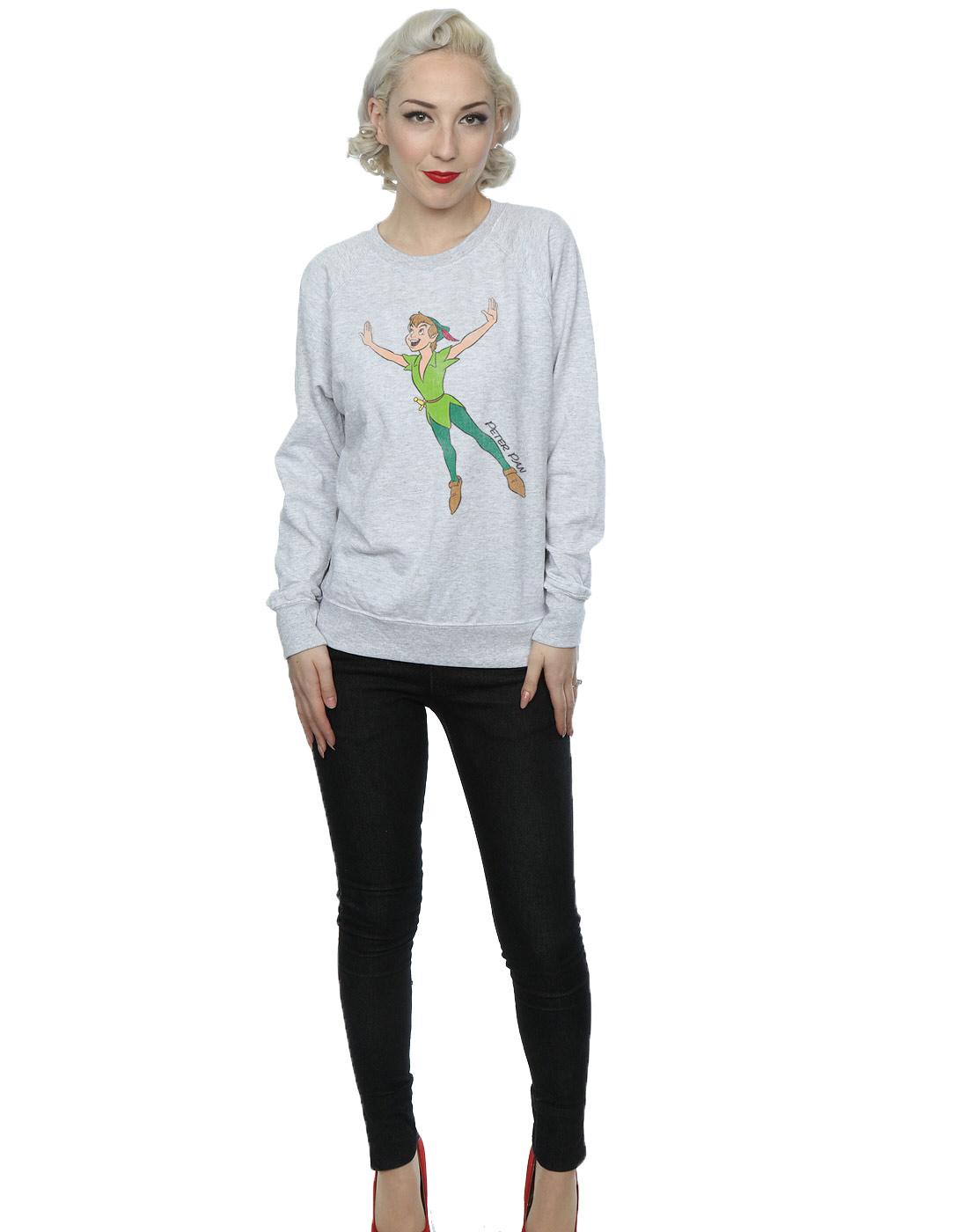 Disney-mujer-Classic-Flying-Peter-Pan-Camisa-de-entrenamiento
