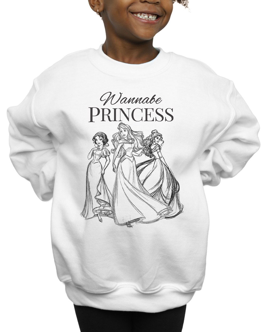 Sweatshirt Sizes 7-12 years Girls Disney Princess Kids