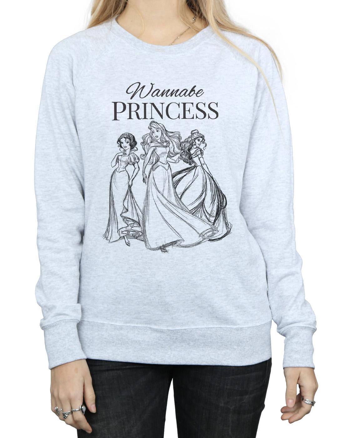 Felpa Donna Princess Princess Disney Wannabe Donna Disney Felpa Wannabe qOpTFwaU