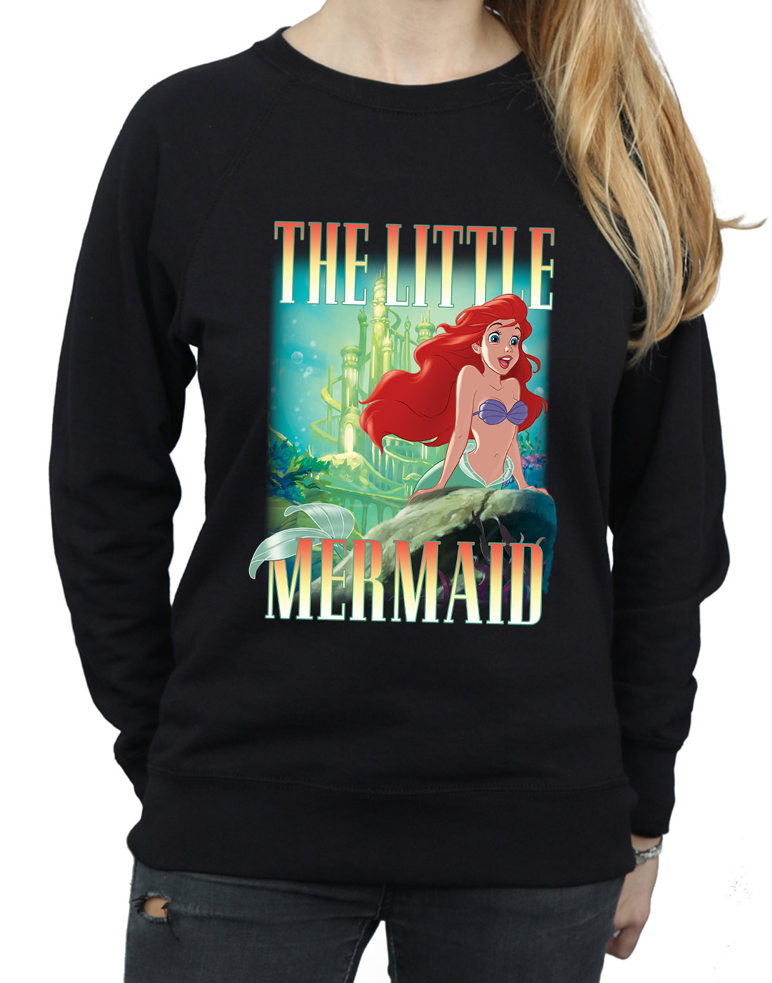Ariel The Little Donna Montage Disney Mermaid Felpa 5OnZxwwPv