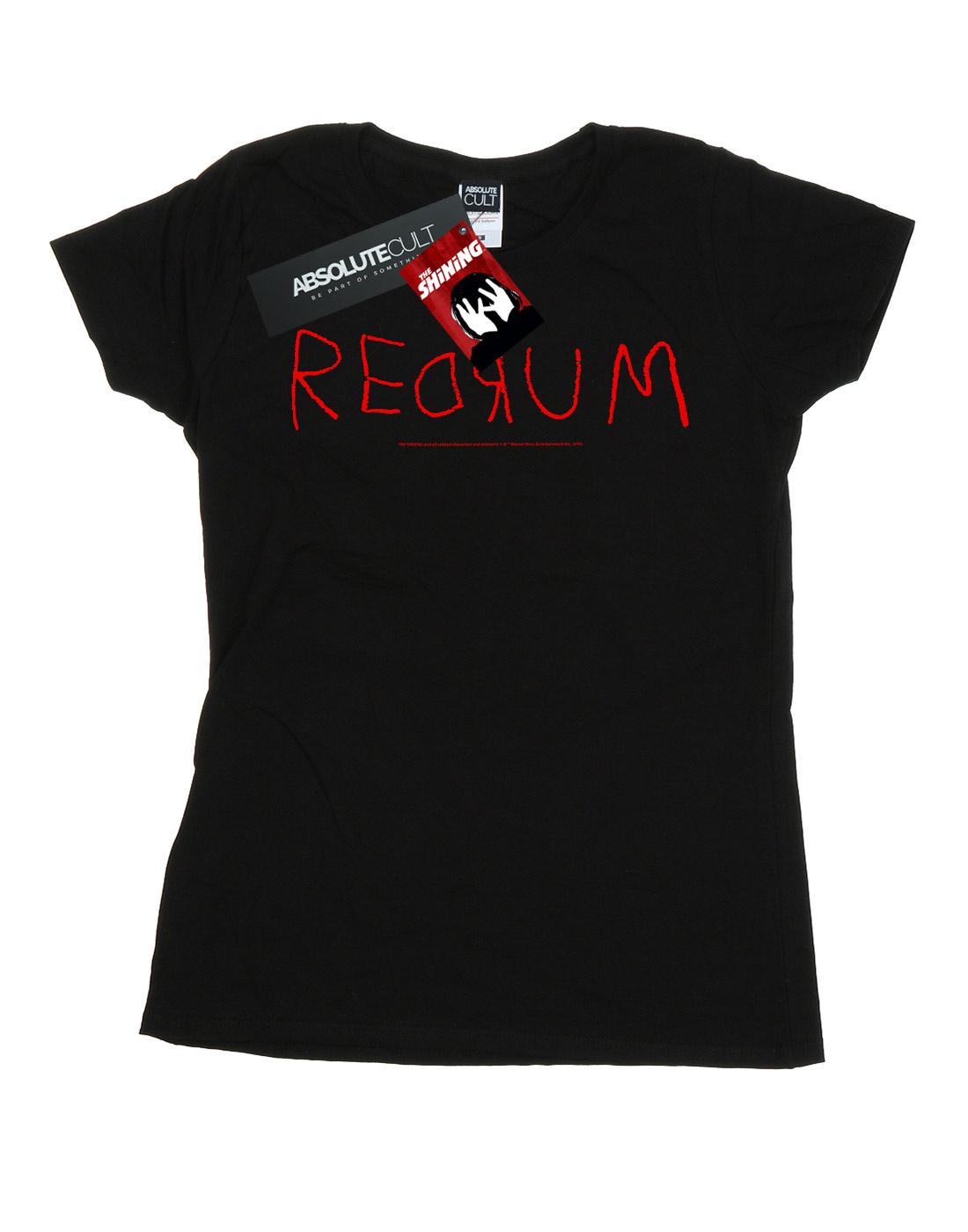 The-Shining-Women-039-s-Redrum-Text-T-Shirt thumbnail 5