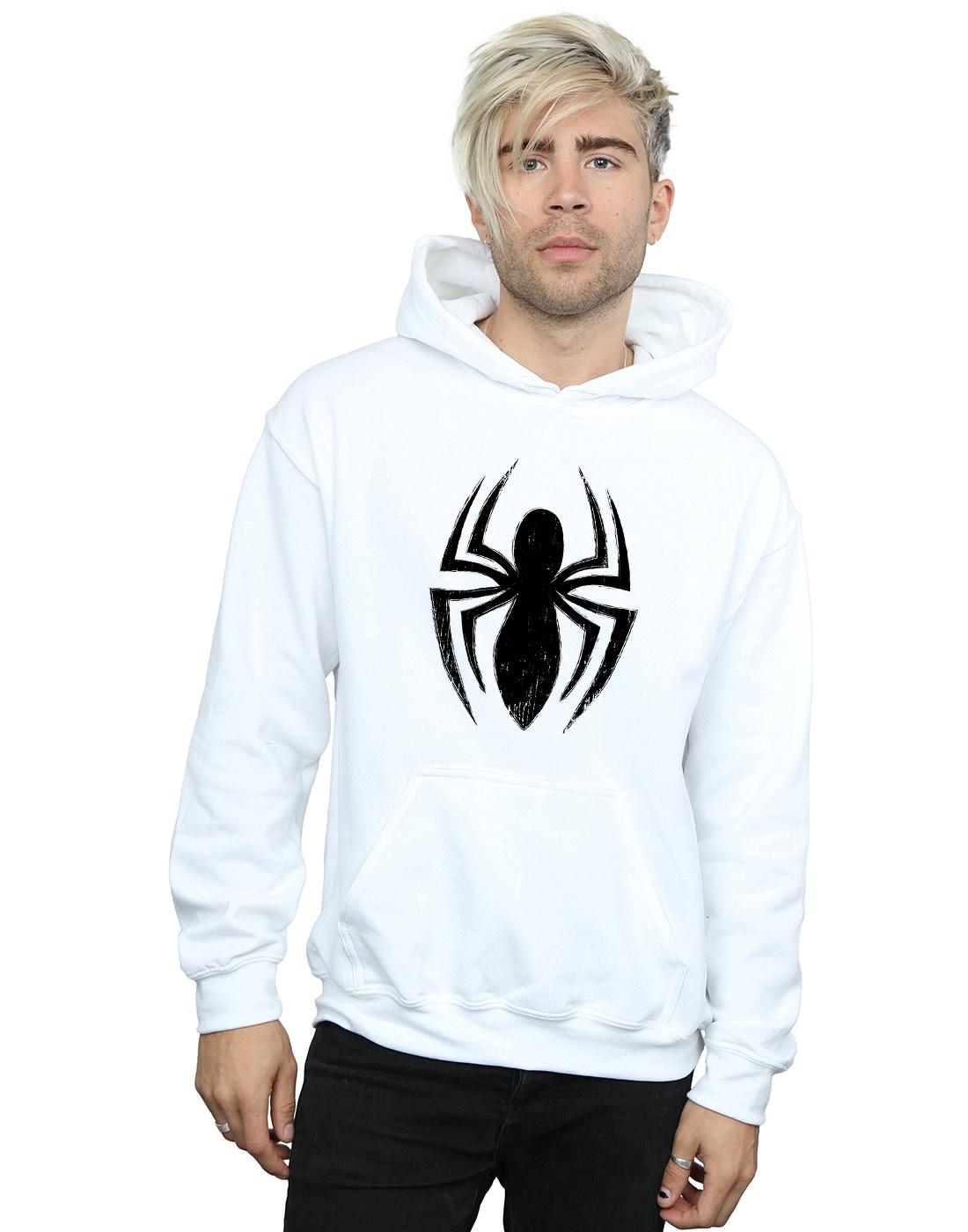 Marvel Herren Spider-Man Ultimate Spider Logo Kapuzenpullover