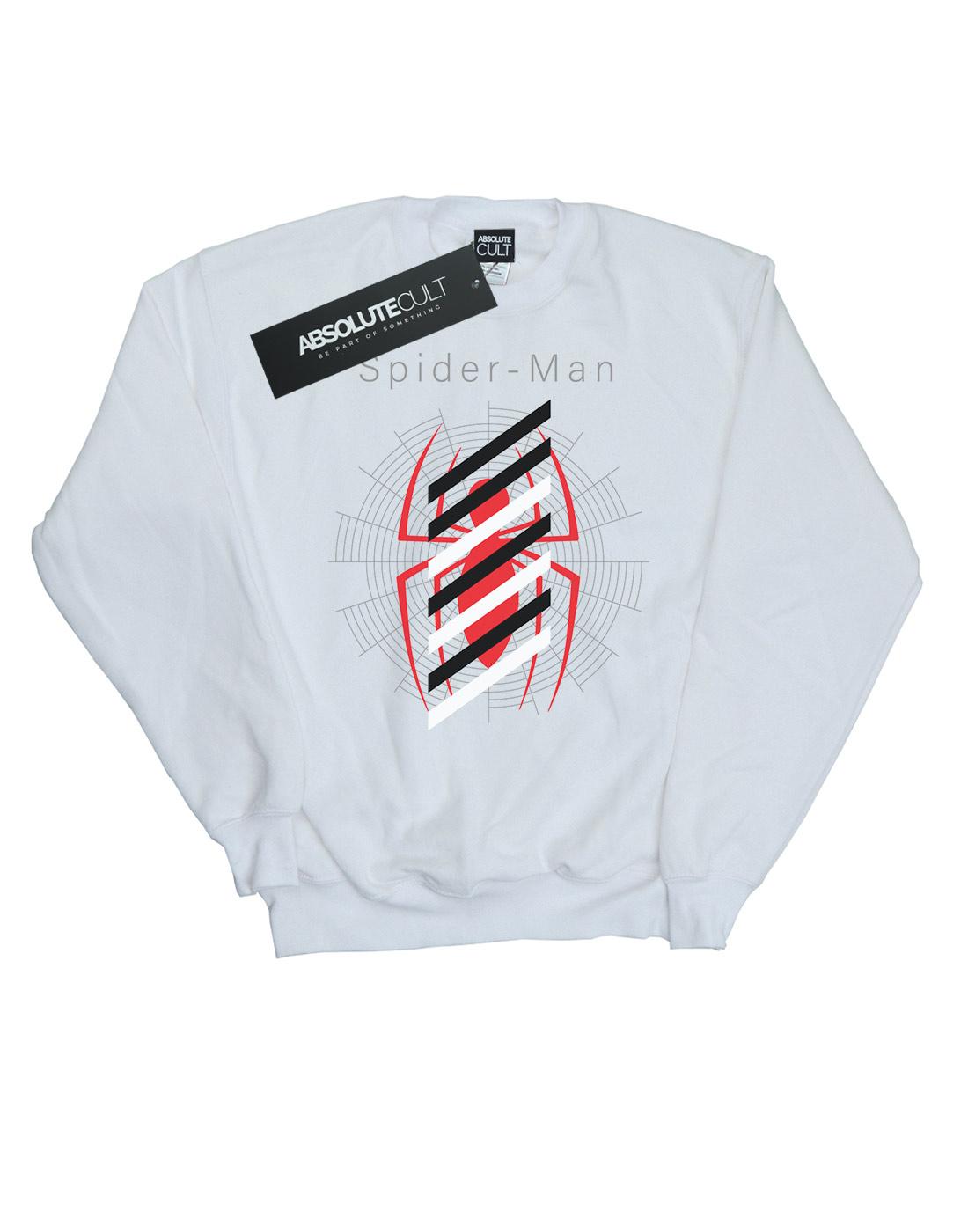 Marvel Damen Damen Damen Spider-Man Logo Stripes Sweatshirt | Moderne und elegante Mode  | Großer Räumungsverkauf  | Marke  | Rich-pünktliche Lieferung  | Good Design  1eed09