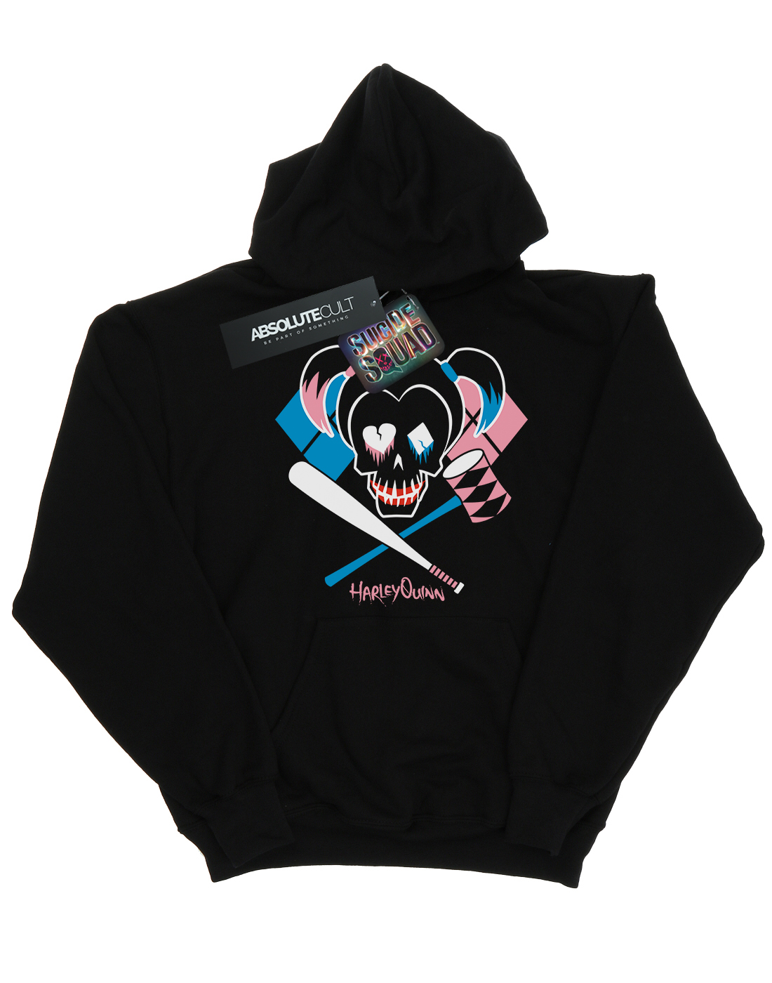 Squad Harley Con Skull Suicide Quinn Felpa Uomo Emblem Cappuccio qzE11Tdwn