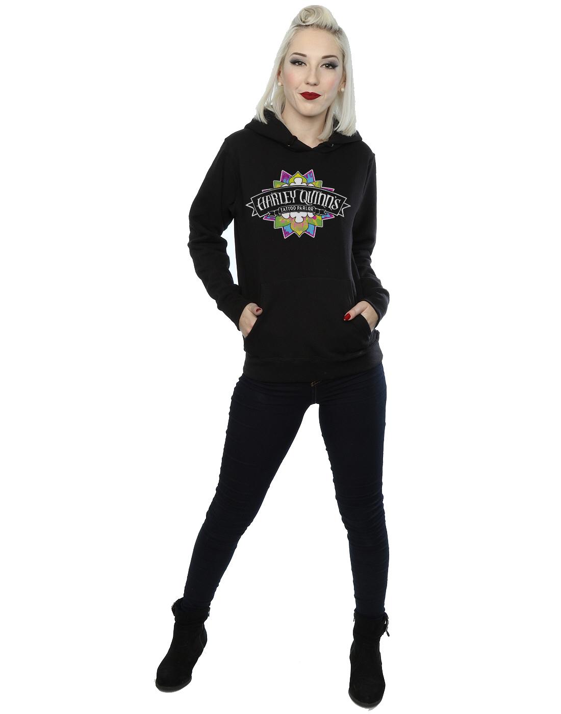 Suicide Harley Felpa Squad Tattoo Quinn Parlour Donna Cappuccio Con EwxEq6RrWO